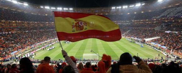 Supporter Spanyol di Soccer City Stadium, Johannesburg