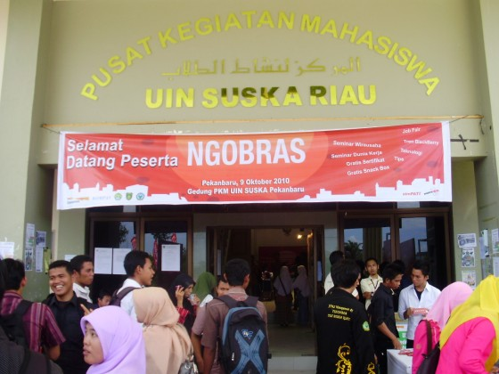 Ngobras Telkomsel di UIN SUSKA Pekanbaru Riau