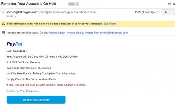 Paypal Pishing Email